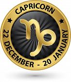 picture of capricorn  - Capricorn zodiac gold sign virgo symbol vector illustration - JPG