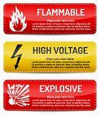 pic of biological hazard  - Flammable High Voltage Explosive  - JPG