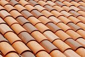 picture of roof tile  - Spanish roof tiles.