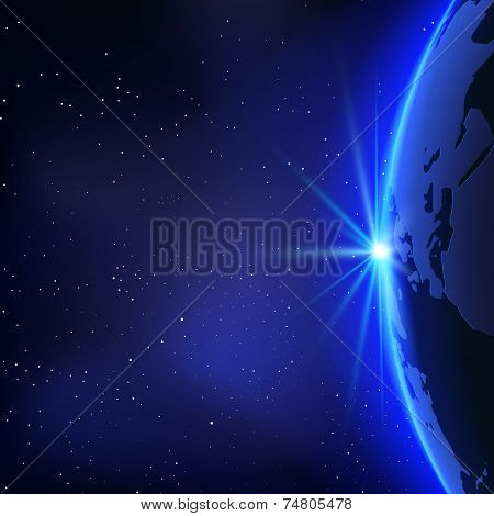 Vector Planet Earth Illustration an Space