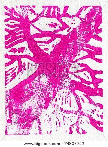 Tree print pink