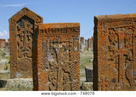 Khachkars (armenian Cross Stones) In Noratous