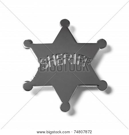 Sheriff Star Badge - Stock Photo