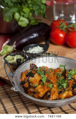 Delicious Indian Fried Aubergine