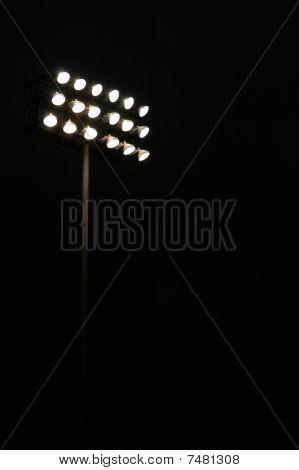 Stadium lights on a sports field