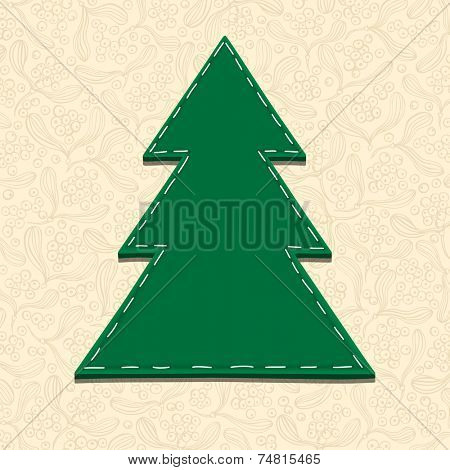 Needlecraft Christmas Tree, vector eps10 illustration