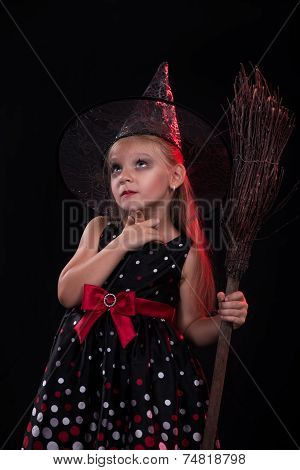 Little Halloween witch