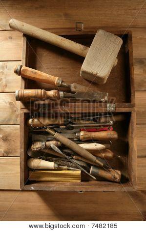 Carpenter Artist Wooden Craftman Toolbox
