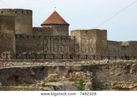 Old Akkerman Fortress On The River Bank In Belgorod-dnestrovsky,ukraine