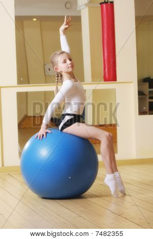 Little Gymnast On Ball