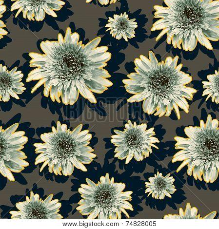 Floral outline pattern
