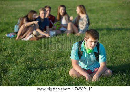 Depressed Male Teen