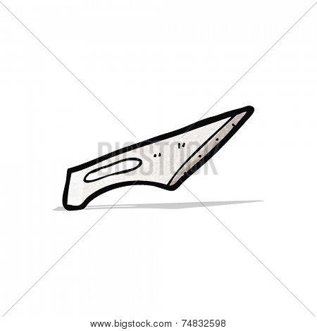 cartoon scalpel blade