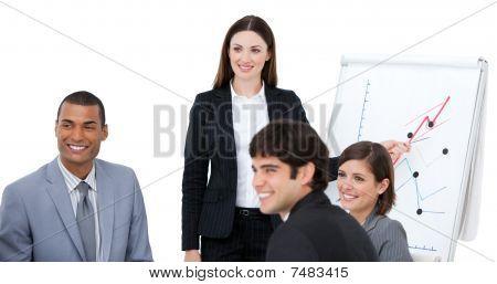 Elegant Woman Doing A Presentation