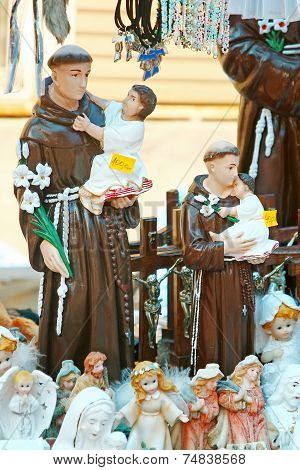 Figurines Of Franciscans And Angels