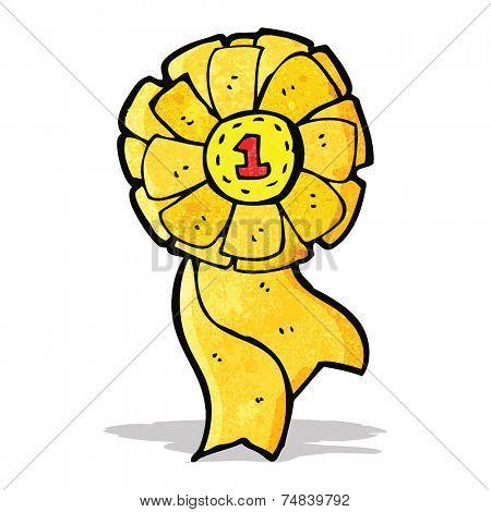cartoon first place rosette