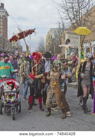 Asheville Mardi Gras Paraders
