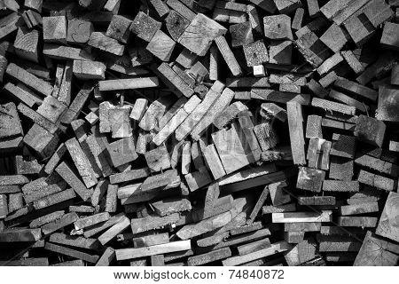 Firewood texture closeup