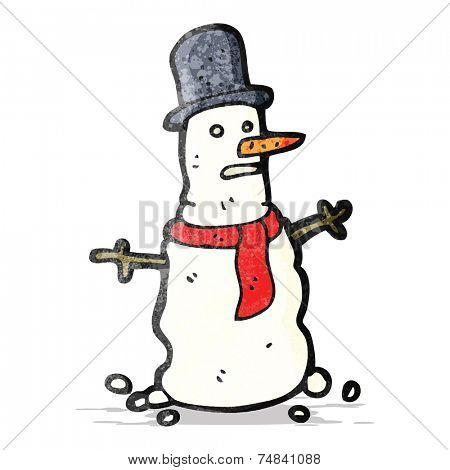 cartoon ugly snowman