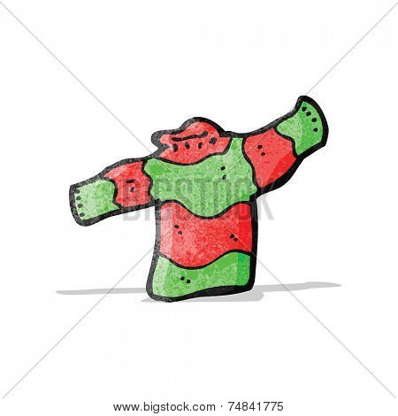 cartoon woollen jumper