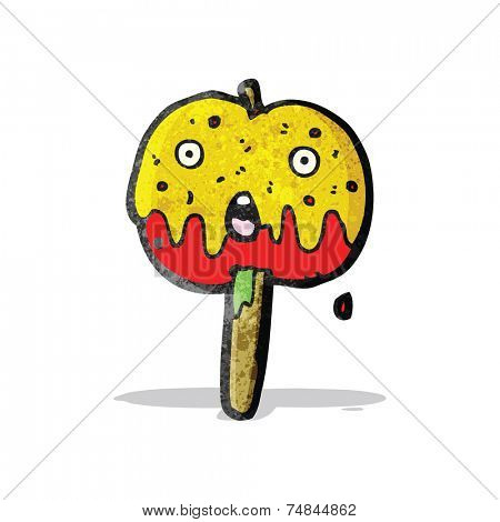 cartoon toffee apple