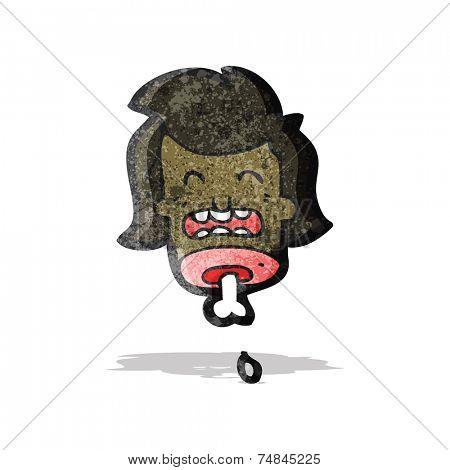 gross severed head cartoon
