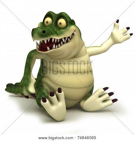 sitting crocodile