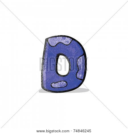 child's drawing of the letter d