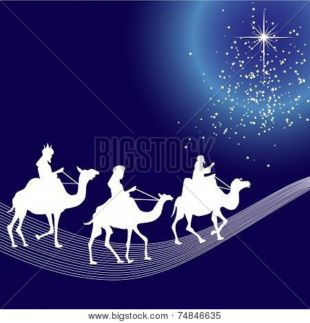 Three wise men silhouette