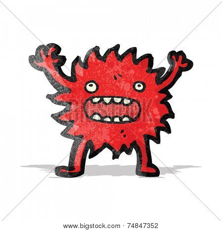cartoon little furry monster