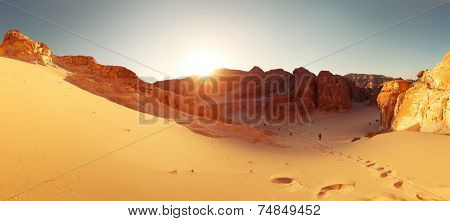 Desert with mountains. Sinai, Egypt