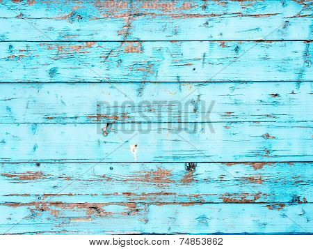 Boards painted with blue