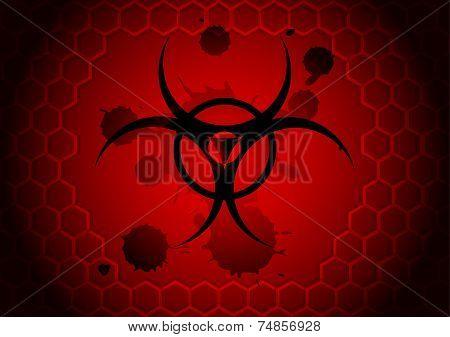 vector biohazard symbol