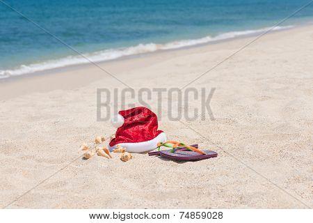 Tropical Christmas On A Tranquil Beach