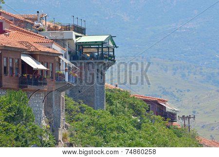 Molyvos Hillside Restaurants Lesvos Greece