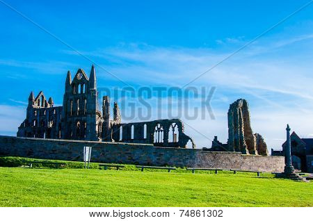 Whitby Abbey In North Yorkshire, Uk