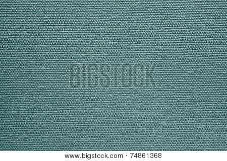 Texture Of Rough Fabric Or Canvas Green Color