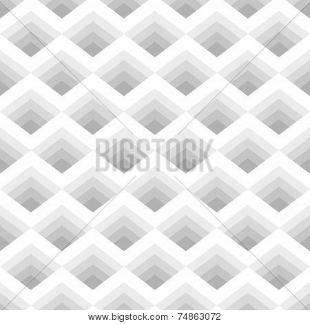 Seamless Geometric Pattern Of Rhombuses Gray Stripes Located.