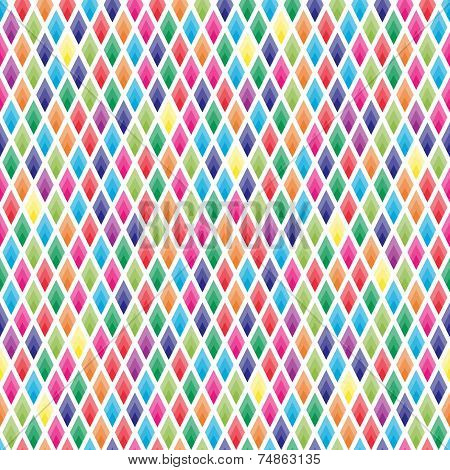 Seamless Background Of Colorful Lozenges On White