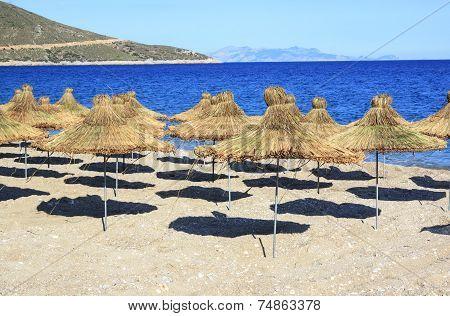 Wickerwork Sun Umbrellas