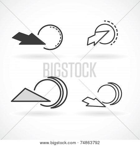 Abstract  Gray Logo Template