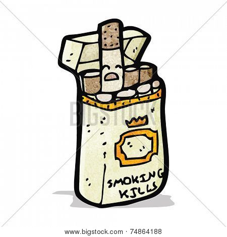 cartoon packet of cigarettes
