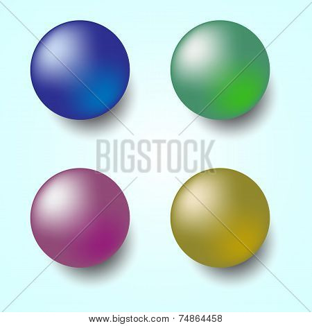 Colorful 3D Sphere Isolated On White Background