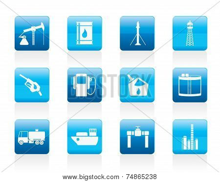 Oil and petrol industry icons