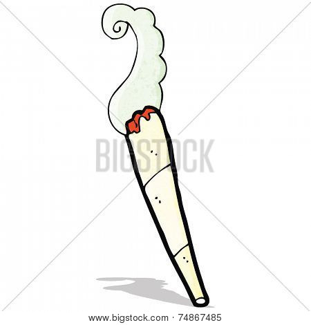 cartoon marijuana cigarette