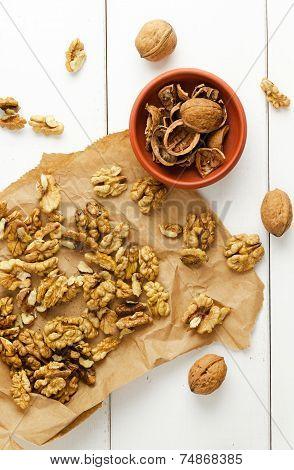 Walnuts Core, Nutshell And Walnuts