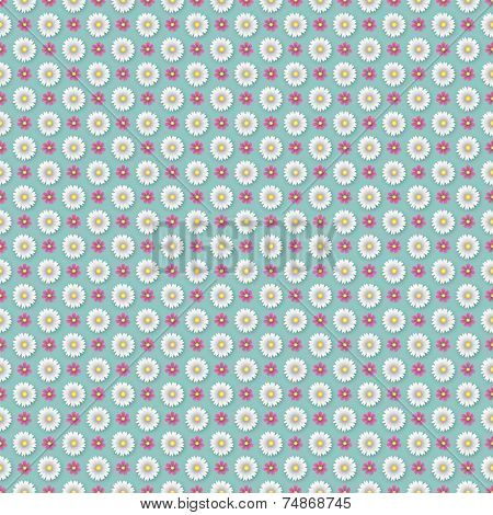 A Geometrical Flower Wallpaper Pattern - All colors grouped together, so can easily be changed - EPS 10