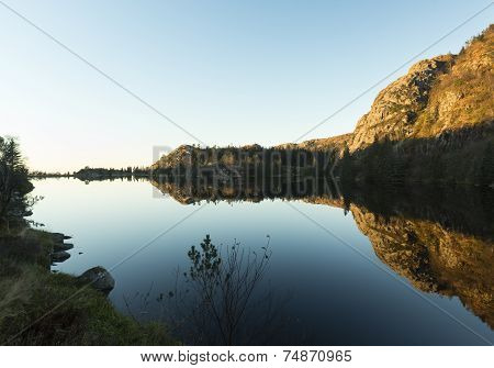 Tranquil lake in Bergen Norway
