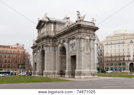 Arch of Triumph in Madrid