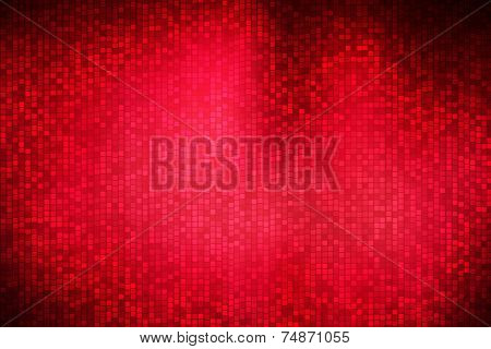 Abstract Square Polka Dots On Dark Red Background